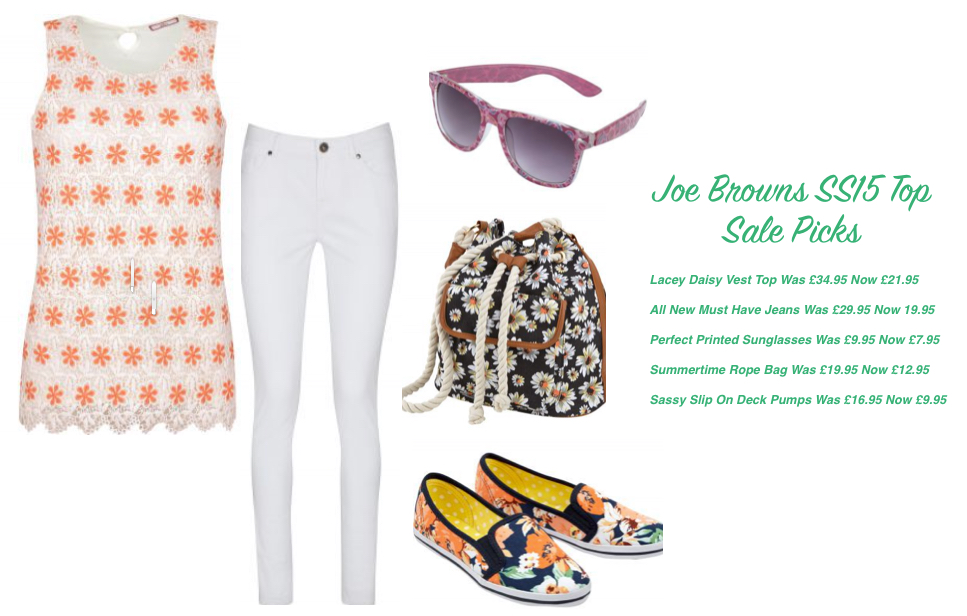 Joe Browns SS15 Top Sale Picks