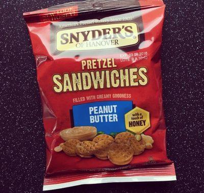 Synders Peanut Butter Pretzel Sandwiches