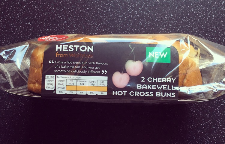 Heston Cherry Bakewell Hot Cross Bun