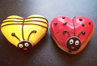 Krispy Kreme Valentine's Honey Bee and Love Bug