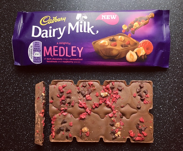 Dairy Milk Medley Raspberry and Nut
