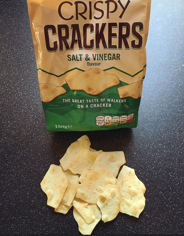 Walkers Crispy Crackers Salt and Vinegar