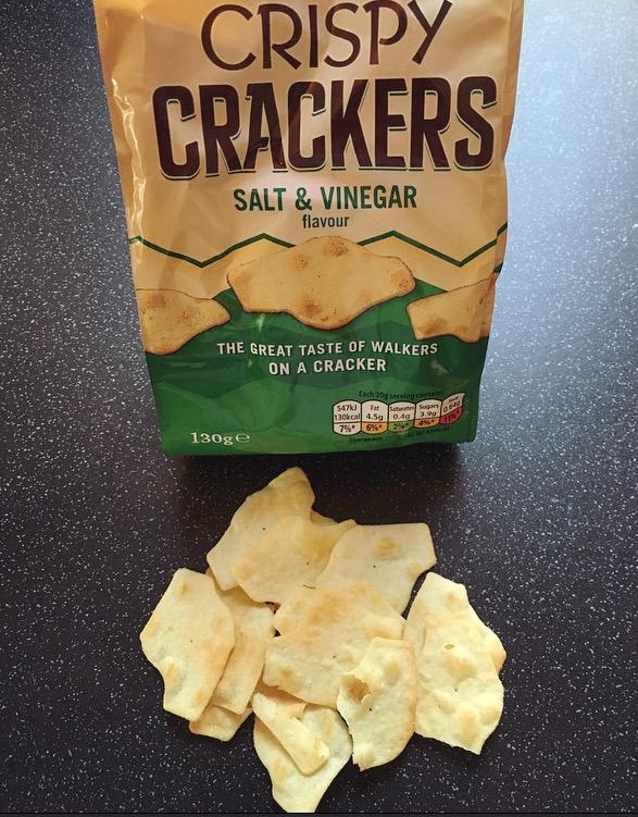 Walkers Crispy Crackers Salt and Vinegar