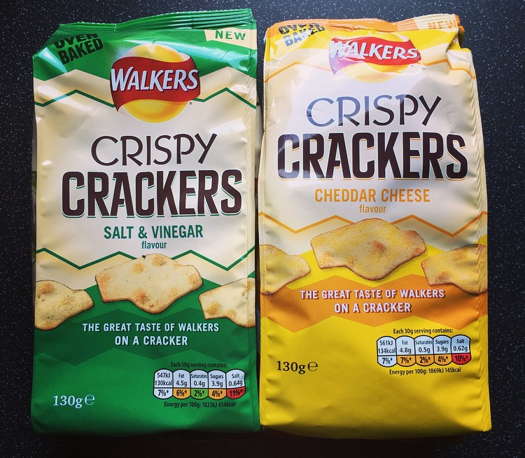 Walkers Crispy Crackers Salt & Vinegar and Cheddar Cheese