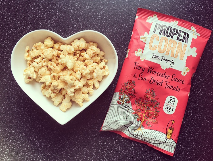 Propercorn Fiery Worcester Sauce and Sun-dried Tomato popcorn