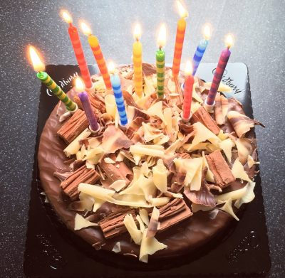 Cadbury Flake Birthday Cake