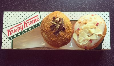 Kripsy Kreme Lotus Billionaire and White Chocolate Raspberry