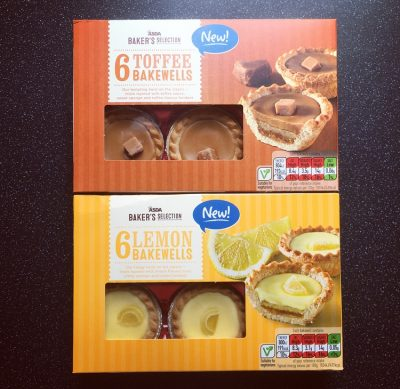 Asda Lemon Bakewells and Toffee Bakewells