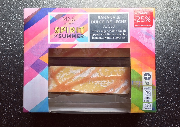 M&S Banana & Dulce De Leche Slices