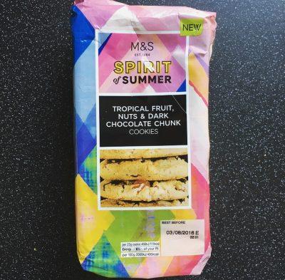 M&S Tropical Fruit, Nuts & Dark Chocolate Chunk Cookies