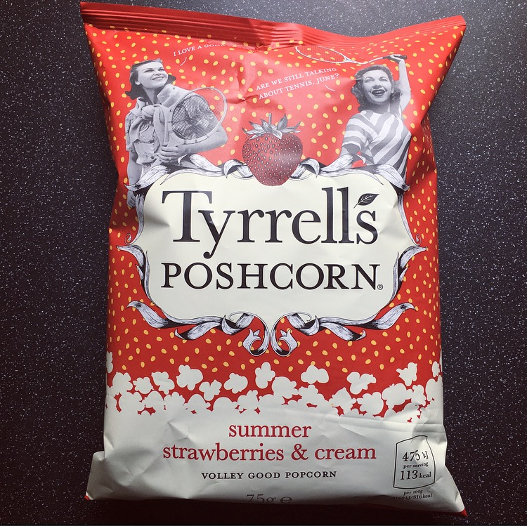 Tyrrells Summer Strawberries & Cream Poshcorn