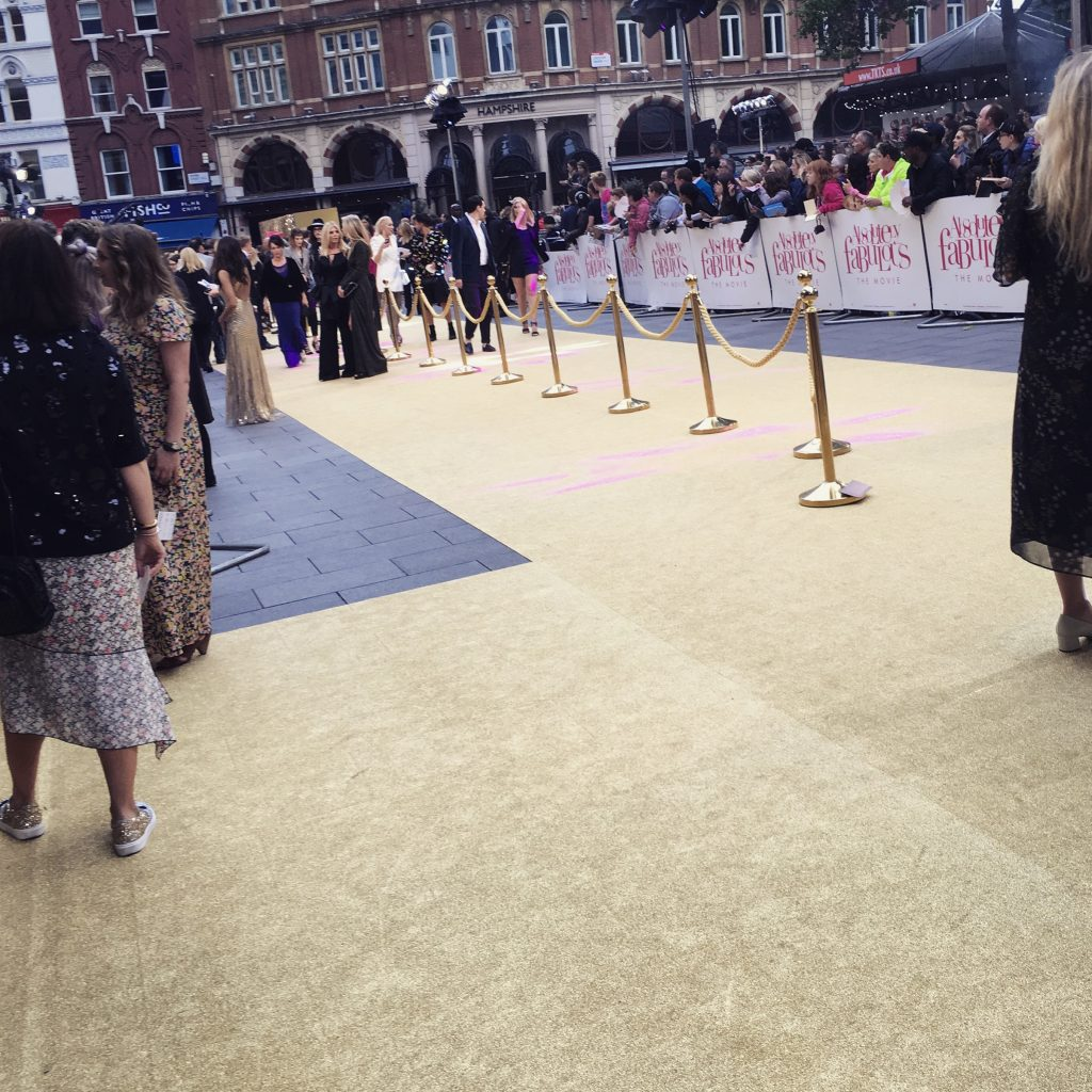Ab Fab Golden Carpet Premiere