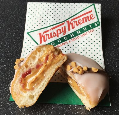 Krispy Kreme Reese's Peanut Butter & Jelly Doughnut