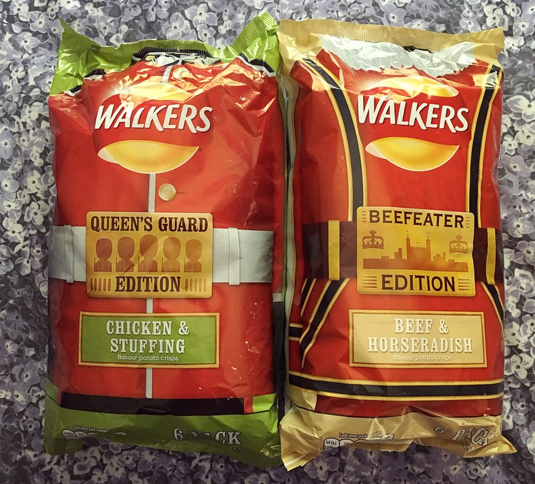 Walkers Beef & Horseradish and Chicken & Stuffing