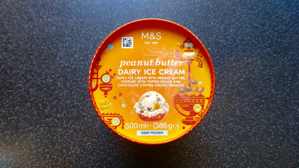 M&S Peanut Butter Ice Cream