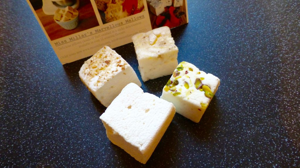 Very Vanilla, Lemon Meringue, Turkish Delight, Coconut Lime Marshmallows