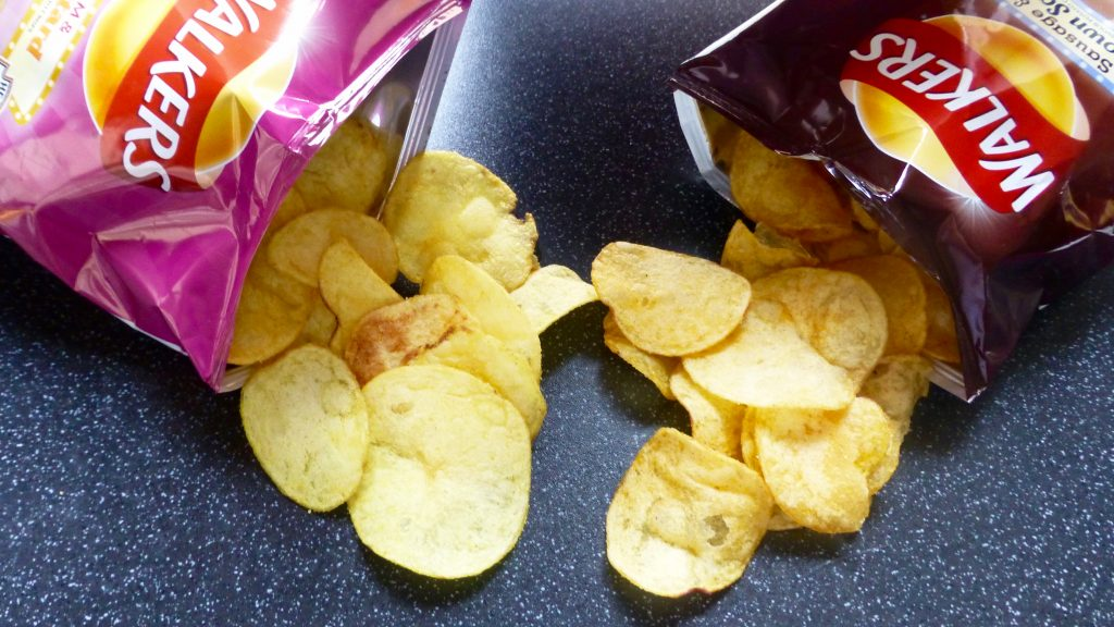 Walkers Ham & Mustard Sausage & Brown Sauce Crisps
