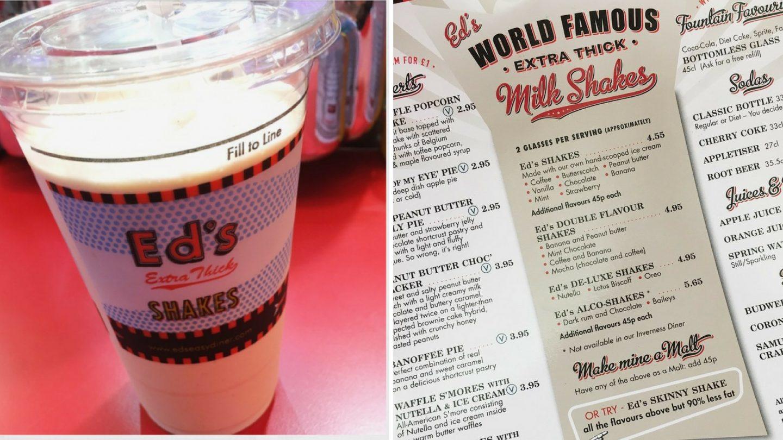 Ed's Easy Diner Reese's Milkshake