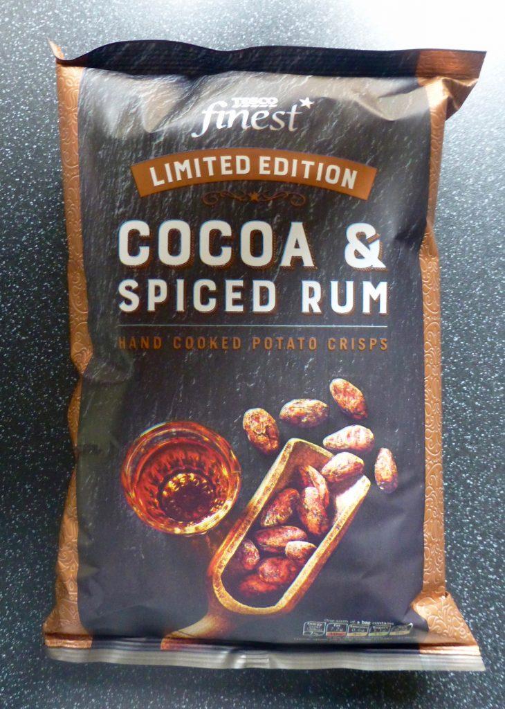 Tesco Finest Cocoa & Spiced Rum Crisps