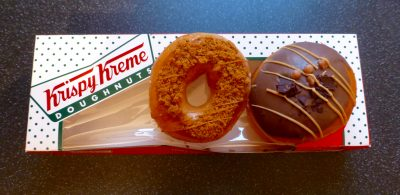 Krispy Kreme Gingerbread Ring and Bonfire Toffee