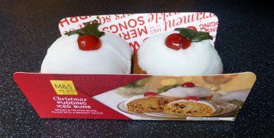 M&S Christmas Pudding Iced Buns