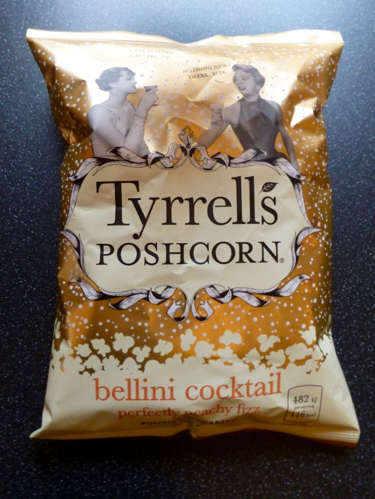 Christmas: Tyrrells Poshcorn Bellini Cocktail