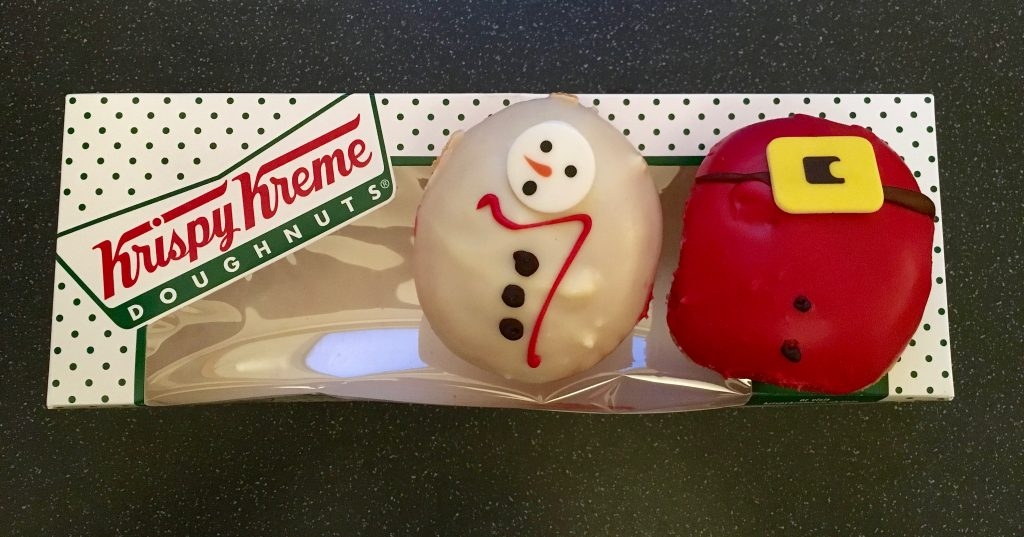 Christmas: Krispy Kreme Santa Belly and Melting Snowman