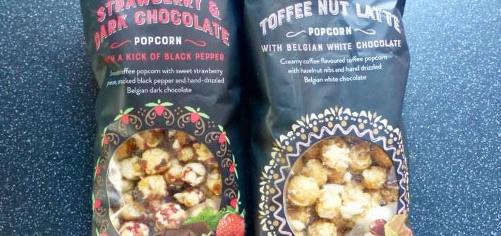 Tesco Strawberry Pepper Dark Chocolate and Toffee Nut Latte Popcorn