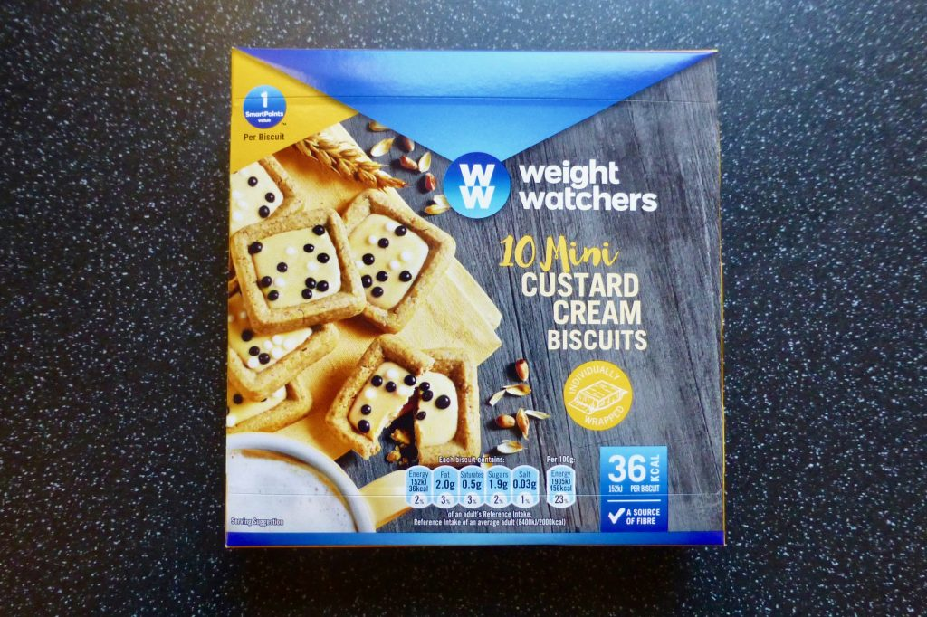 Weight Watchers Mini Custard Cream Bites