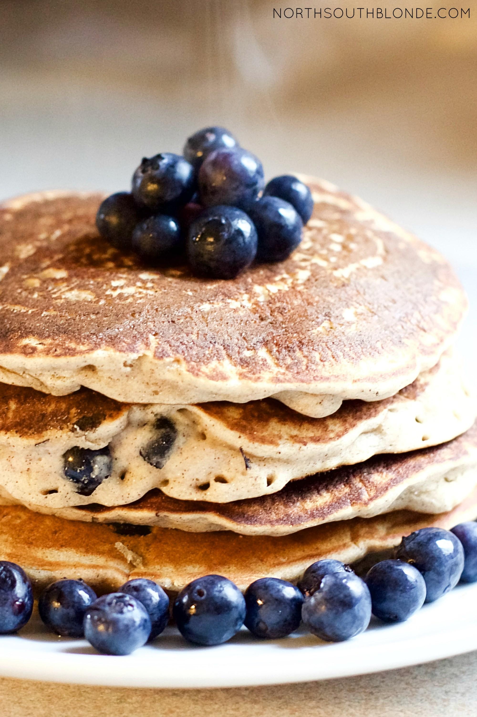 Blueberry Banana Cinnamon Pancakes Vegan, Gluten Free