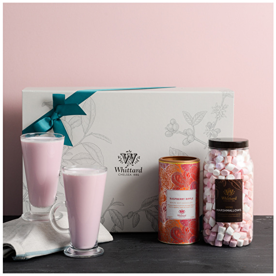 Whittard Raspberry Ripple Hot Chocolate Gift Set
