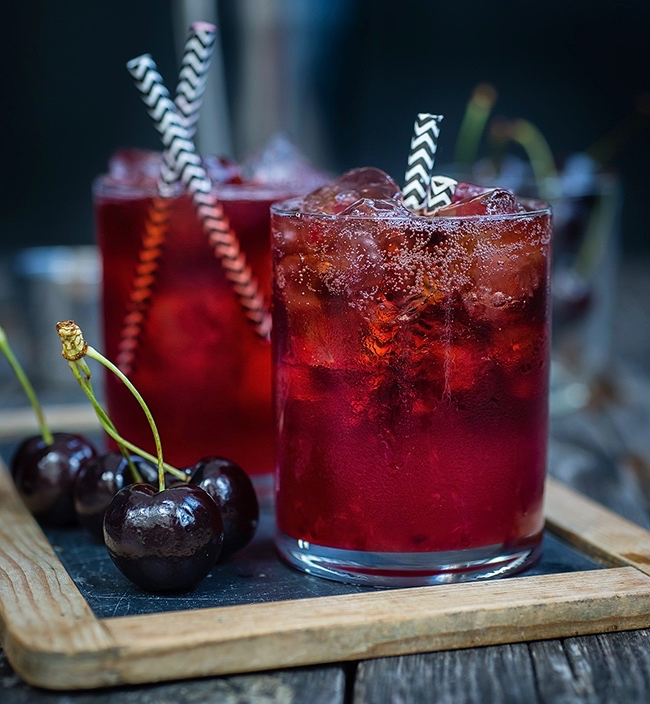 Bourbon Cola Cherry Smash