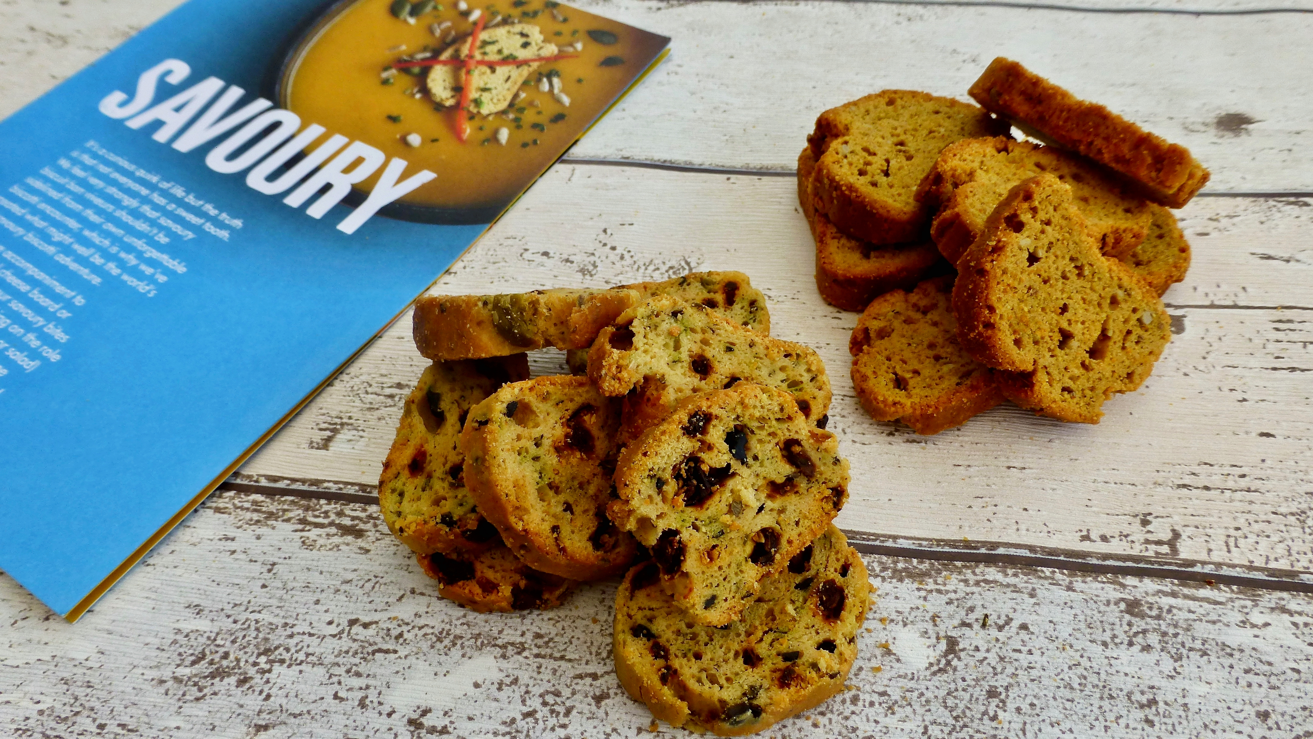 Sun Dried Tomato & Olives and Indian Spice Biscotti