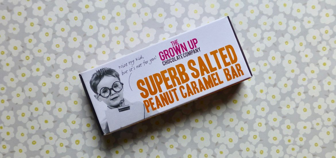 The Grown Up Chocolate Company Superb Salted Peanut Caramel Bar