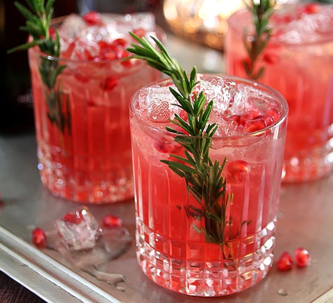 Pomegranate & Rosemary Gin Fizzjpg