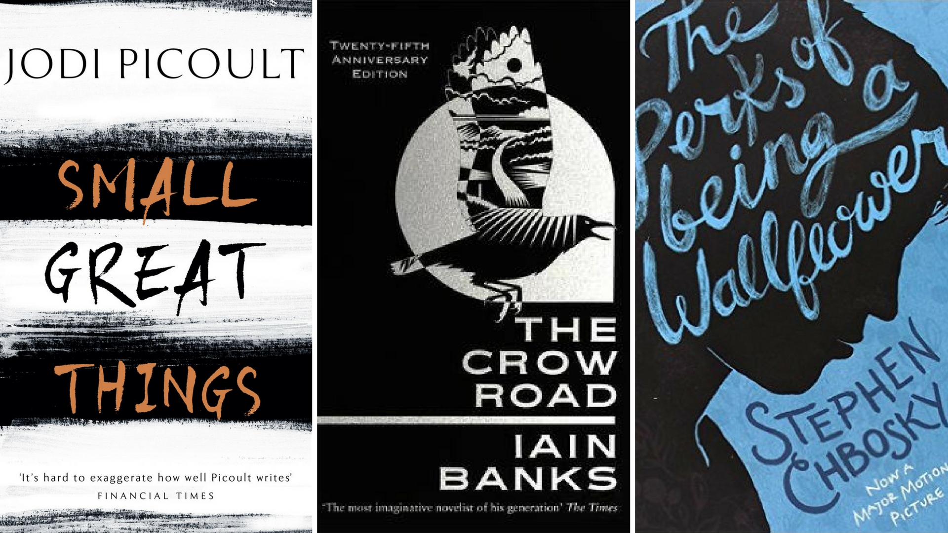 Small Great Things, The Crow Road and The Perks of Being a Wallflower