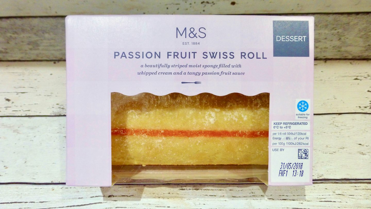 M&S Passion Fruit Swiss Roll