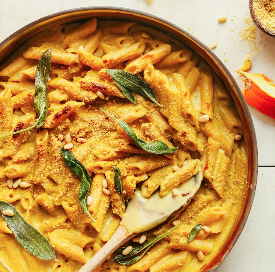 Vegan Pumpkin Mac n Cheese