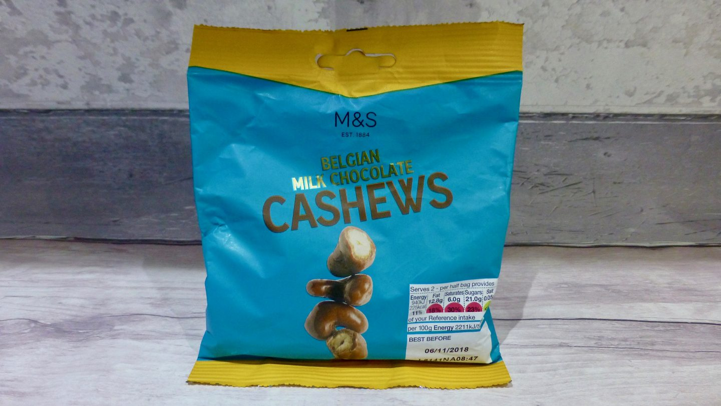 M&S Belgian Milk Chocolate Cashews