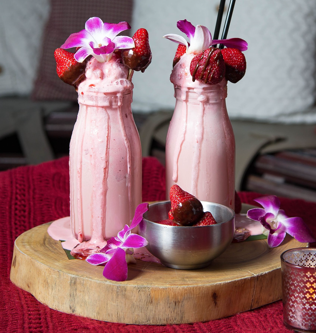 Must Have Drinks This Galentine's Day Berry Kiss Boozy Milkshake Galentines Day