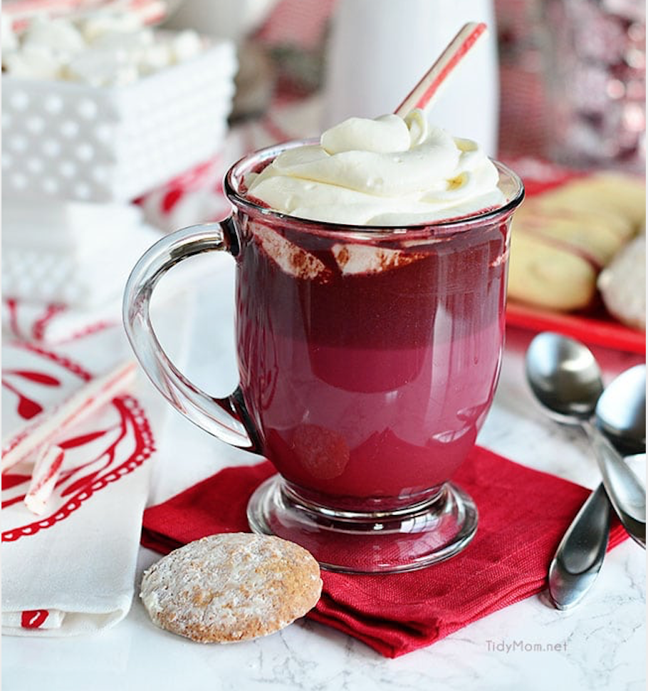 Must Have Drinks This Galentine's Day Red Velvet Hot Chocolate
