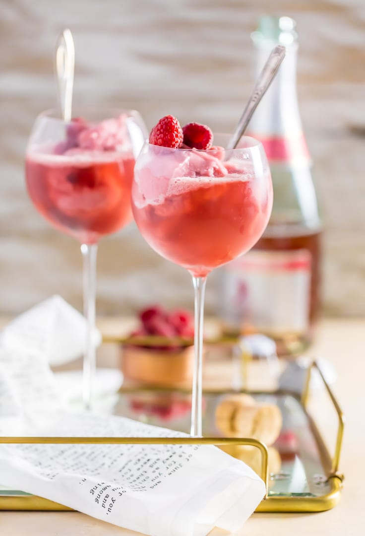 Must Have Drinks This Galentine's Day Raspberry-pink-champagne-floats-16-of-17