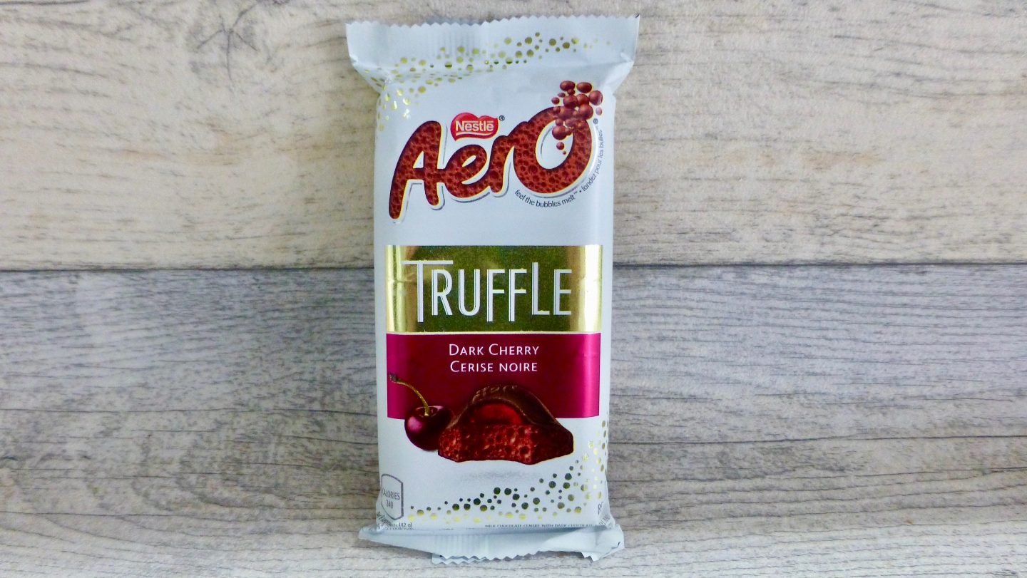 Aero Dark Cherry Truffle Chocolate Bar