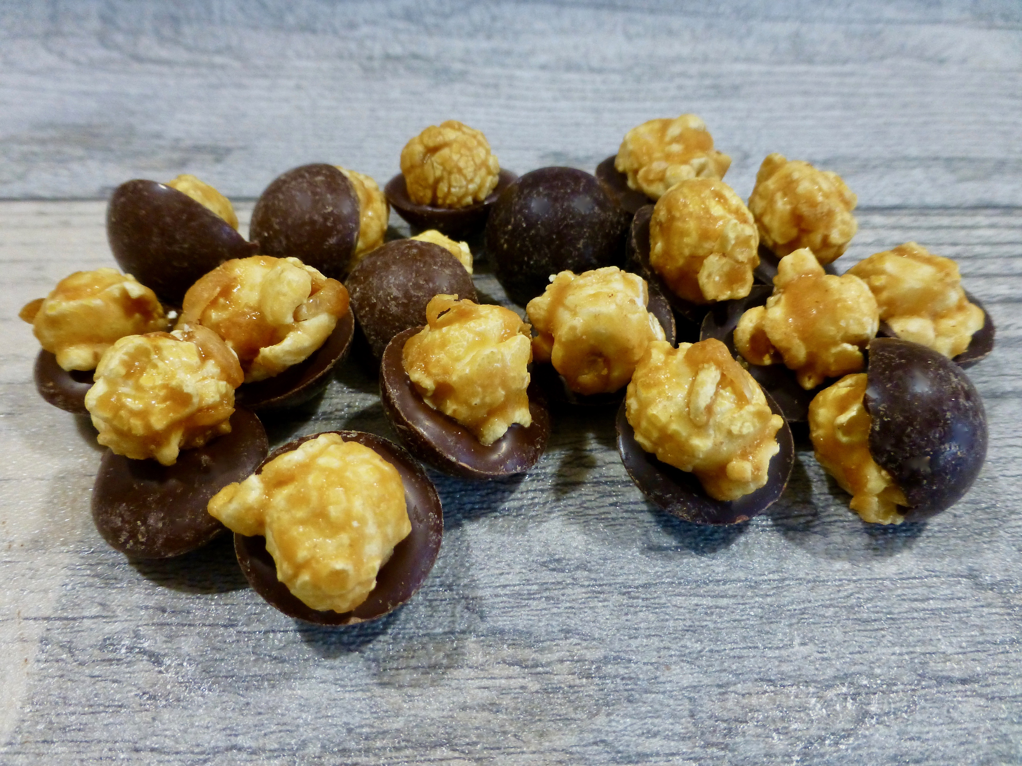 Joe & Seph's Popcorn Bites Milk Chocolate and Dark Chocolate