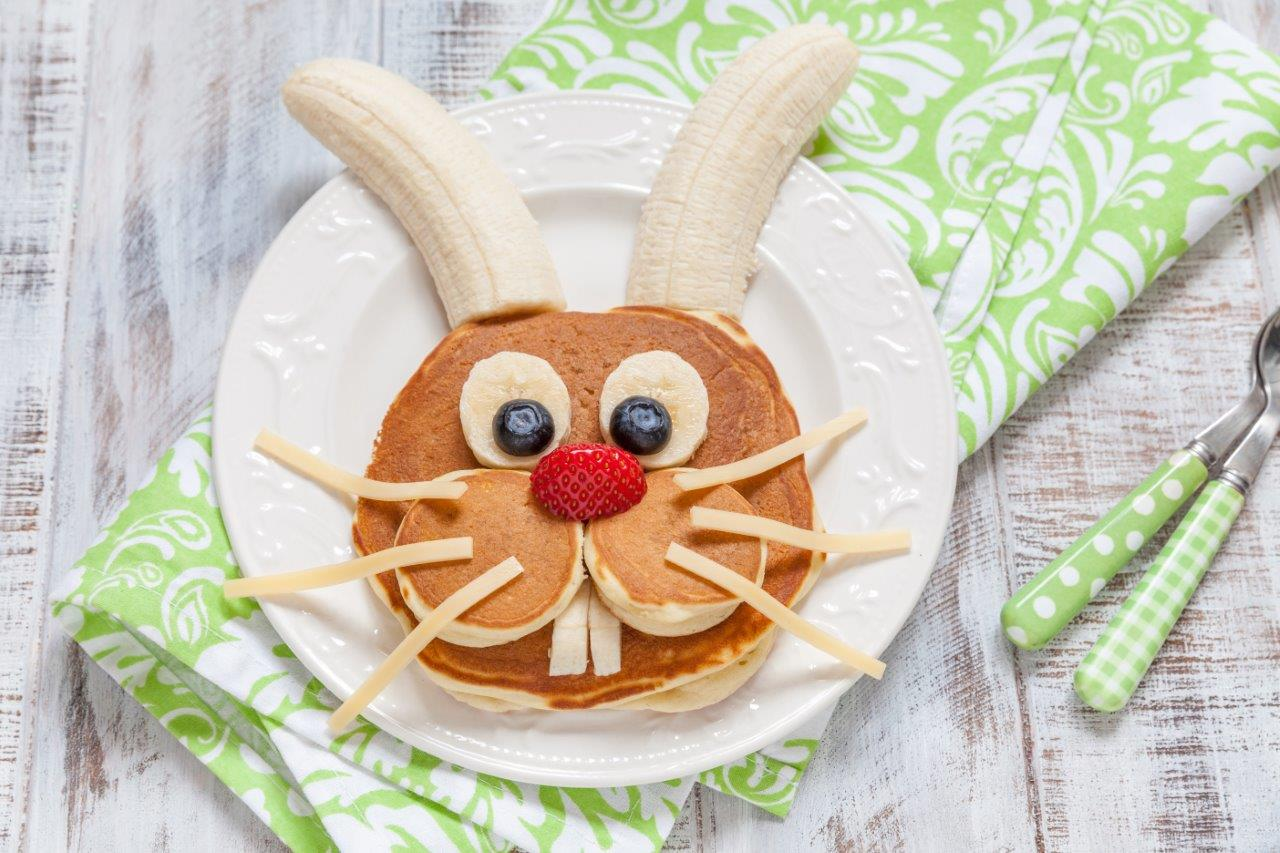 Hop into Easter with White's Oats - Bunny pancakes