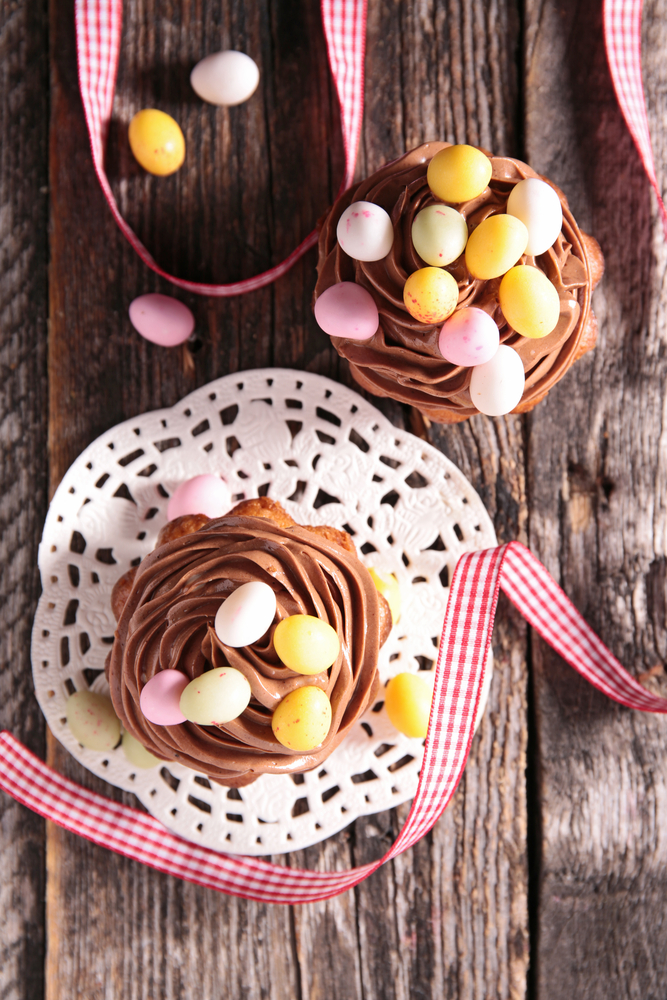 Hop into Easter with White's Oats - choc beetroot easter cupcakes