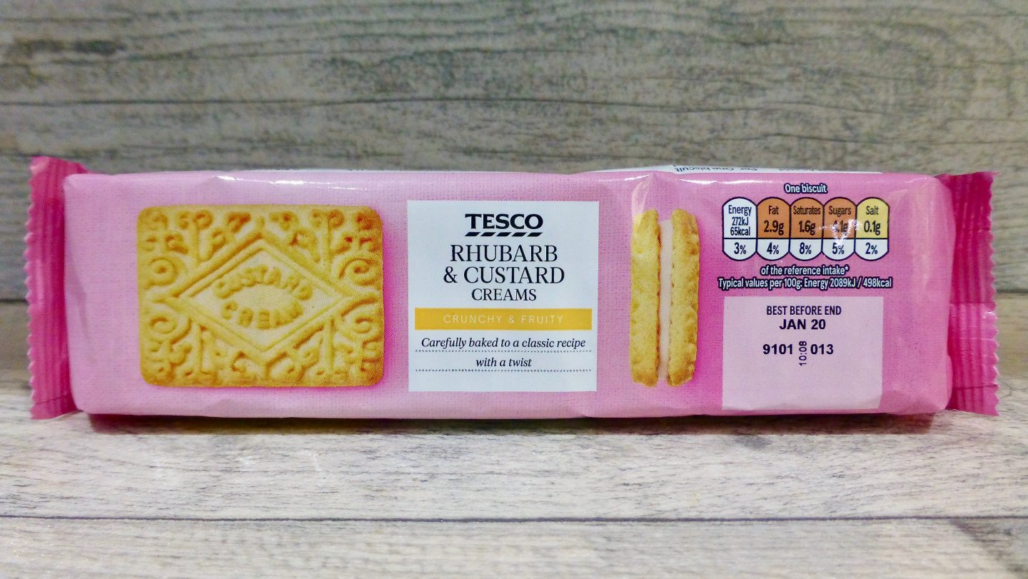 Tesco Rhubarb and Custard Creams