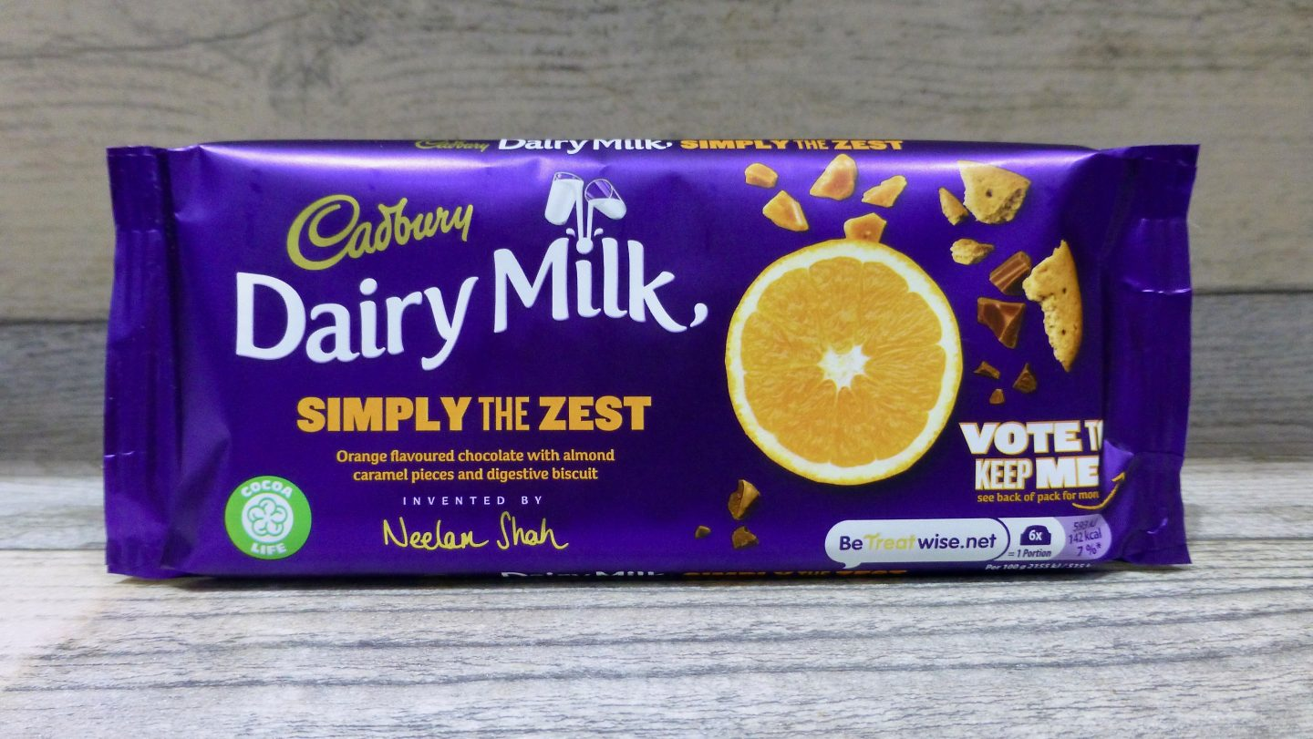 Cadbury Dairy Milk Simply the Zest