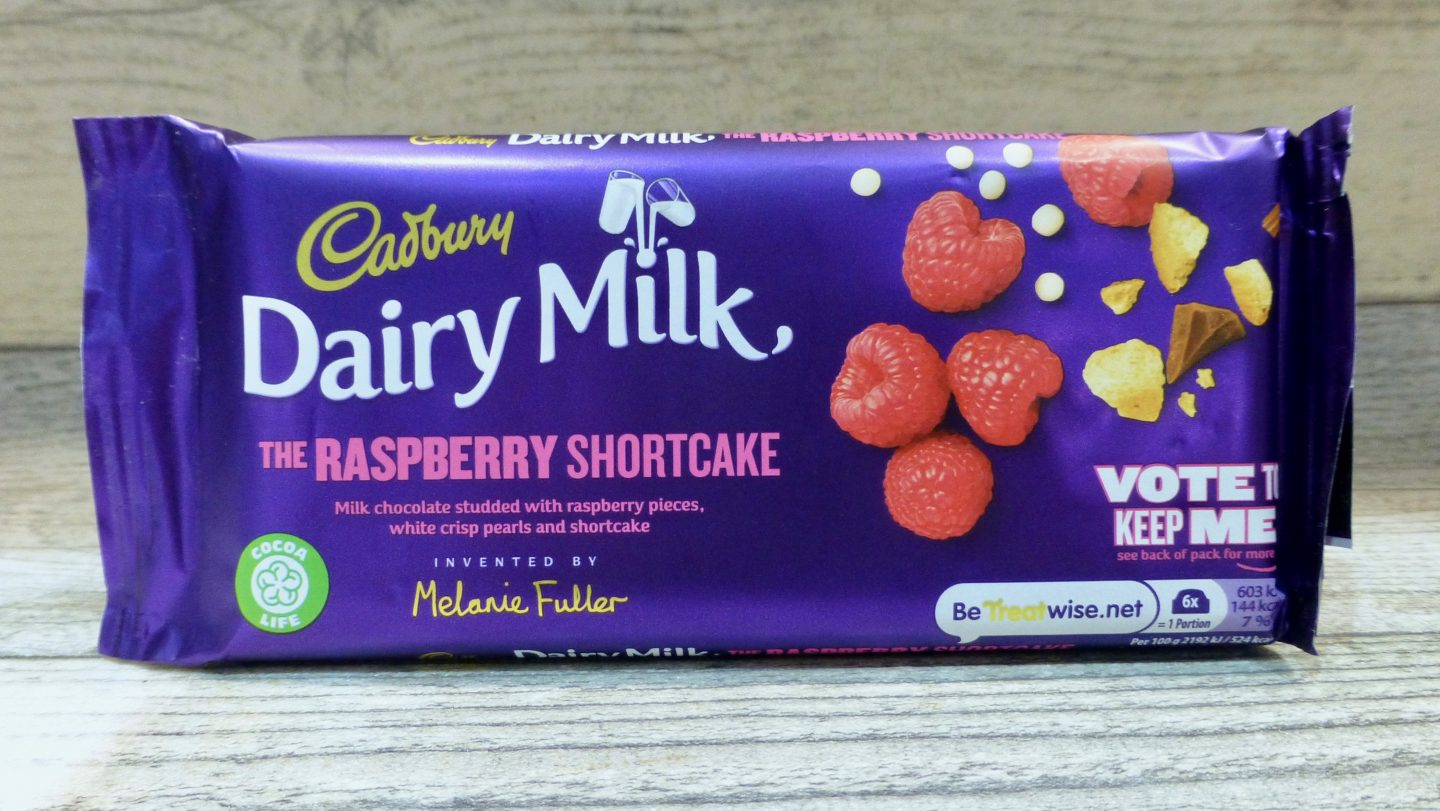 Cadbury Dairy Milk Raspberry Shortcake Chocolate Bar