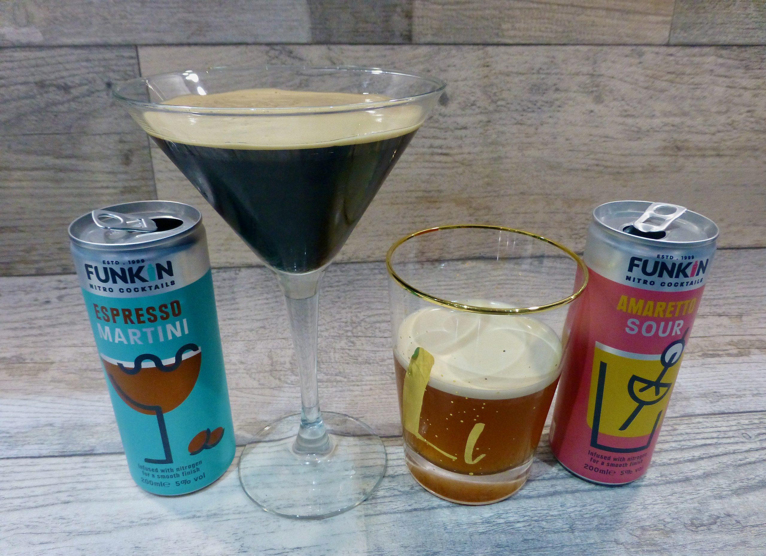 Funkin Cocktails Nitro Espresso Martini and Amaretto Sour